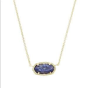Elisa Necklace in Raw Cut Lapis